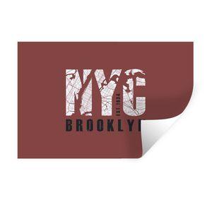 Wandaufkleber - New York - NYC - Brooklyn - 60x40 cm - Repositionierbar