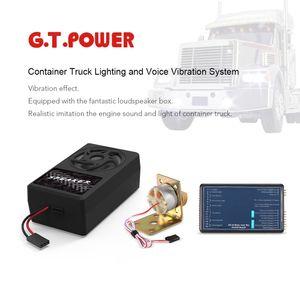 Original GTPOWER Container-LKW-Beleuchtung und Voice-Vibrationssystem fuer Tamiya RC4WD Traktor RC Truck