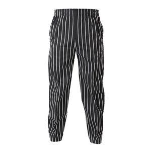 Modische Kochhose Bäckerhose Elastische Hose für Damen und Herren - Gestreifte, XL Farbe Gestreiftes XL