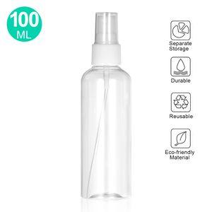 100 ml klare PET-Spruehflasche Feinnebelspruehgeraet Mini-Reiseflasche Kunststoff Leerer nachfuellbarer Behaelter fuer Parfuem-Kosmetik-Make-up-Wasserzerstaeuber