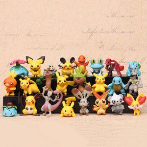 24Stk/Set 4-5cm Anime Spielzeug für Kinder Weihnachtsgeschenke Cartoon Anime Pokemones Action Figur Spielzeug Modell Dekoration Spielzeug-Set