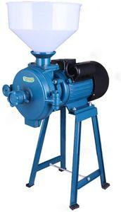1500W Elektrische Trocken Getreidemühle Reismahlmaschine Futtermühle Mahlmaschine Gewürze Getreide Kräuter Mühle mit Trichter  220V (Blau)