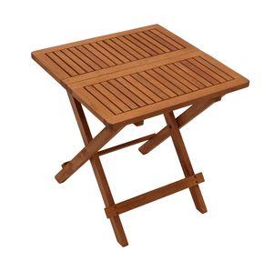 DEGAMO Beistelltisch klappbar Gartentisch Holztisch Klapptisch FLORENCIA 50x50cm, Akazienholz geölt