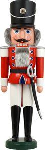 Nußknacker Figur Weihnachten original Erzgebirge Seiffen Husar rot 11802/1 NEU