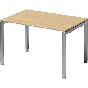 Bisley Schreibtisch CITO U 1200x650-850x800mm silber/ahorn verstellbar