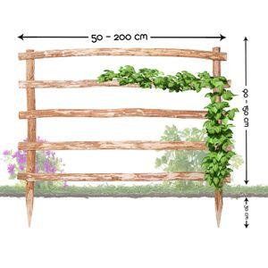 Natürliche Rankhilfe aus Holz Höhe 180 x Breite 100 cm in 33 verschiedenen Größen für Ihre Kletterpflanzen