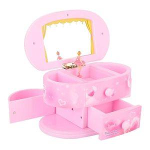 Mllaid Herzform Personalisierte Ballerina Spieluhr Tanzende Spieluhr, Ballerina Schmuckkästchen, Klassiker für kleine Mädchen für Mädchen Geburtstagsgeschenk