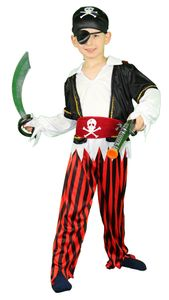 Piraten Kostüm für Kinder Gr. 86 - 140, Größe:122/128