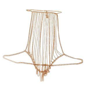 Elegant Lady Link Chain Full Body Chain Necklace Bikini Summer Accessory