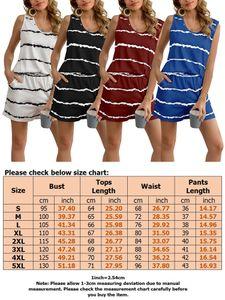 Sexydance Damen Gestreift Schlafanzüge Ärmellose Tops Shorts Nachtwäsche Homewear,Farbe:Schwarz,Größe:XL