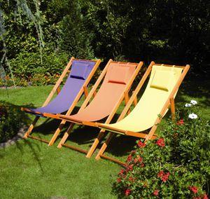 Siena Garden Strandliegestuhl Faro Gestell light teak 110x58x90cm gelb,  672584