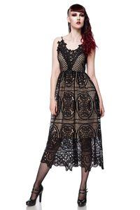 Sommer-Kleid aus Spitze, Farbe: Schwarz, Größe: L