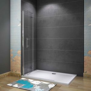100x195cm Faltbar+drehbar Nano ESG Glas Duschwand Duschtür Duschabtrennung Dusche