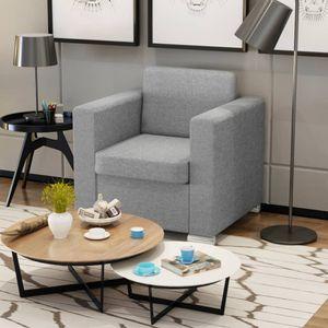 【Neu】Sessel Sessel Hellgrau Stoff Gesamtgröße:82 x 73 x 78 cm BEST SELLER-Möbel-Stühle-Sessel im Landhaus-Stil