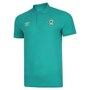 Umbro SV Werder Bremen Travel Poloshirt Herren Erwachsene grün L