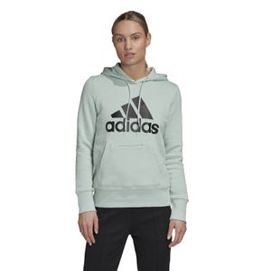 adidas Core Damen Kapuzen Hoodie Badge of Sport Overhead Fleece Hoodie green tint, Größe:XL