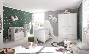 Babyzimmer 21 Landhaus in Weiß 7 teiliges Megaset