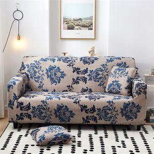 NEUFU Elastischer Sofabezug 2 Sitzer Sofahusse Sofa Überwürf Stretch Sofabezüge Couchbezug Sofa Abdeckung Muster Hussen für L Form Sofa (Provence)