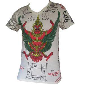 PANASIAM T-Shirt Garuda Tiger, Farbe/Design:Garuda in weiß, Größe:L