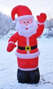 Weihnachtsmann 180cm selbstaufblasend beleuchtet mit 3 LEDs 54110