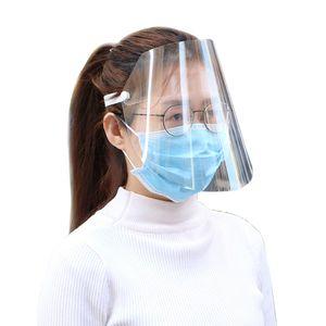 Protective Face Shield Klares Visier Klappbare transparente Maske Anti-Splash-Gummiband Vollgesichtsabdeckung für die Reinigung des Werkstattkochs Anti-Spray-Maske Einheitsgröße (Den Film vor Gebrauch abreißen)