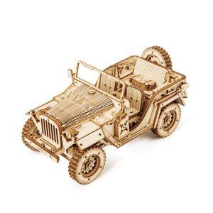 3D-Holzpuzzle für Erwachsene Fahrzeugbausätze  Bestes Geschenk für Kinder Militärjeep