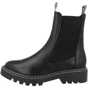 Tamaris Damen Stiefeletten Chelsea Boots Leder Halbschaft 1-25455-25, Größe:40 EU, Farbe:Schwarz