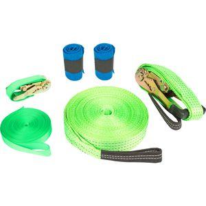 Small Foot 10476 Slackline mit Baumschutz, grün, 6-teilig (1 Set)