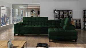 Mirjan24 Ecksofa Laris, L-Form Polsterecke, Stilvoll Eckcouch mit Bettkasten und Schlaffunktion (Farbe: Fresh 13, Seite: Rechts)