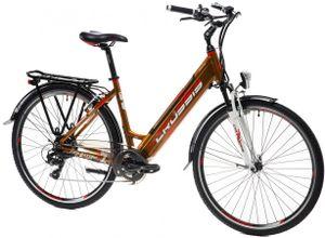 "28 Zoll City Bike Elektrofahrrad E-Bike Modell e-Country1.10 Crussis 2021 13 Ah Pedelec Rahmenhöhe 19"" (45,7 cm) Braun"