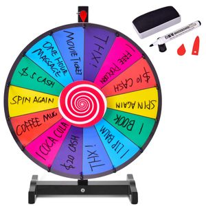"""COSTWAY 18"""" Gluecksrad Spielzeug Farbe Rad Spiele fuer Lotteriespiele Wortspiele φ48cm"""
