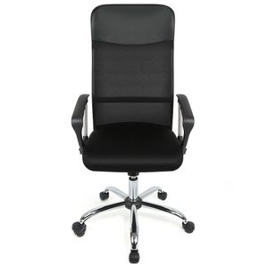 Bürostuhl   Ergonomische Bürostühle  Computer Stuhl mit Armlehne, Netzrücken Höhenverstellbar (122130cm) Schwarz