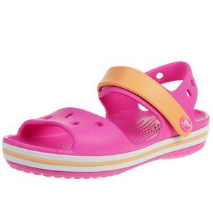 crocs Crocband Sandal Kids Electric Pink / Cantaloupe Croslite Größe: 29/30 Normal