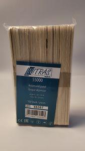 100 Holzspatel Holzmundspatel Wachs Bastelhölzer Haarentfernung