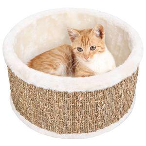Katzenkorb ,Korbhöhle ,Transportkorb ,Transportbox für Katzen Hunde Rund 36 cm Seegras