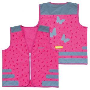 Sicherheitsweste Wowow Nutty Jacket für Kinder pink mit Refl.-Streifen - Größe: M