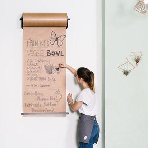 CozyHome Studio Roller – Stylische Wand Papier-Halterung für Büro, Café oder Zuhause – Innovative Alternative zu Whiteboard, Flipchart, Memoboard oder Kreidetafel
