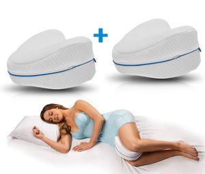 Mediashop Dreamolino Leg Pillow | Komfort für Seitenschläfer | ergonomisches Knie- und Beinruhekissen | stützt Ihre Knie & Beine | Memory Foam Kissen | Polster | Das Original aus dem TV