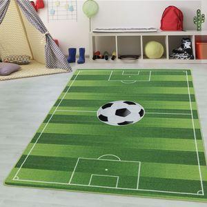 Teppium Kinderteppich, Kinderzimmerteppich, Fussball Stadion, Rechteckig GRÜN, Farbe:GRÜN,120 cm x 170 cm