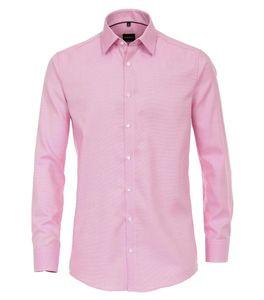 Größe 41 Venti Hemd Rosa Struktur Uninah Langarm Modern Fit tailliert Kentkragen Kombimanschette 100 % Baumwolle Bügelfrei