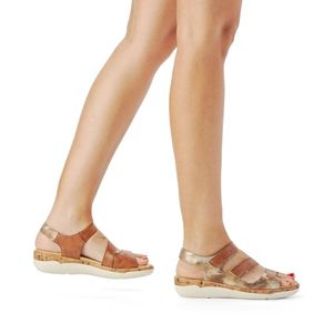 Remonte Damen bequeme Sandale in Braun, Größe 39
