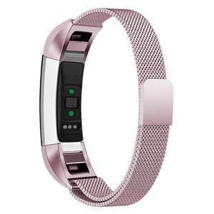 Fitbit Alta / HR Armband Edelstahl Milanaise Rosépink (L)