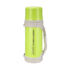 Thermosflasche 1,5 Liter grün Isolierflasche Thermoskanne ideal für Unterwegs Edelstahl