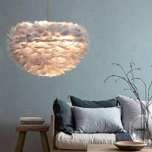Federn Deckenlampe Pendelleuchte Schirm Lampe Lichter Hängeleuchte Feder Lampe Moderne Weiß Lichter Hängeleuchte Schlafzimmer/Ess Zimmer Decken Mit Glühbirne
