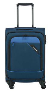 Travelite Derby Kabinen 4-Rollen Weichgepäck Trolley S 55 cm 2,4 kg, Farbe:Blau