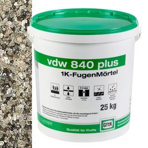 VDW 840 Plus 1K Fugenmörtel, 25 kg - Farbe: steingrau