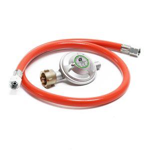 Druckminderer 50mbar Gasregler mit Propanschlauch 80cm Gasminderer Druckregler