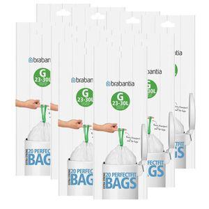 Brabantia Müllbeutel Smartfix (G) 23-30 Liter, 20 Mülltüten (10er Pack)