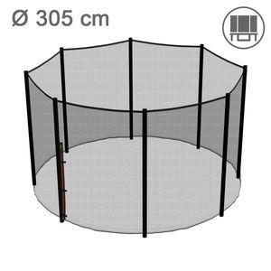 Ampel 24 Ersatz Sicherheitsnetz für Trampolin Ø 305 cm, Gartentrampolin Ersatznetz für 8 Stangen, Netz außenliegend, Ersatzteil reißfest, UV-beständig