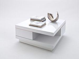 MCA Furniture Couchtisch Abby Weiß, 85 cmx85 cmx30 cm, 58207WW4
